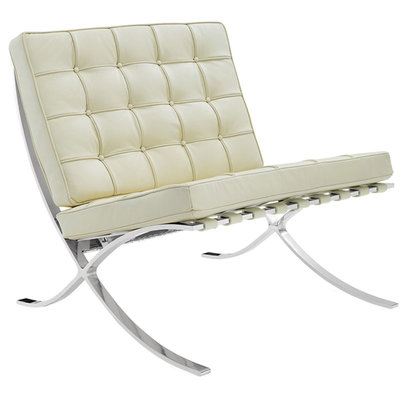 Luxe Barcelona Chair Creme