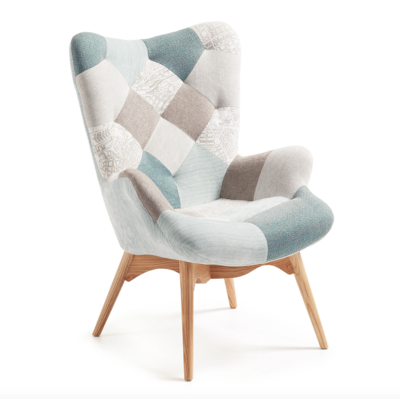 Fauteuil KNUT Armstoel - Patchwork (oorfauteuil)