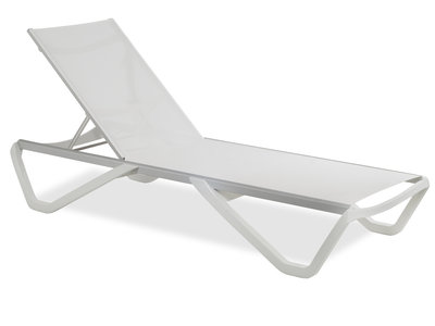 Luxe Lounge Ligbed - Wit
