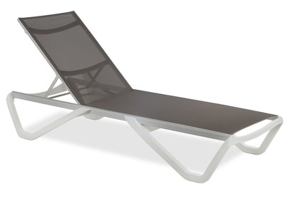 Luxe Lounge Ligbed - Taupe/Wit