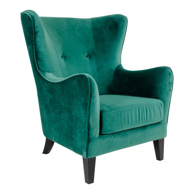 Campo Chair - Chair in green velvet
