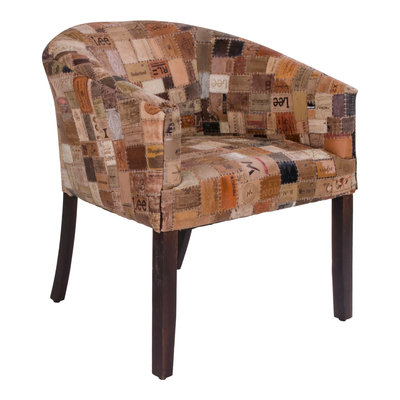 Hakim Lounge Chair - Lounge chair in leather and mango wood