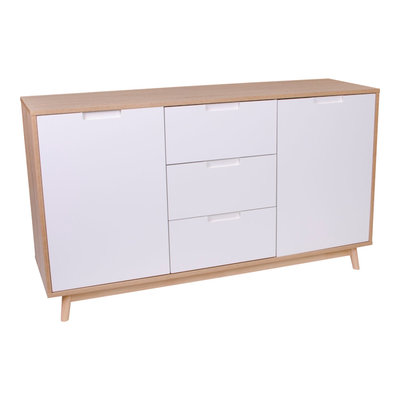 Copenhagen Sideboard - Sideboard in white and natural