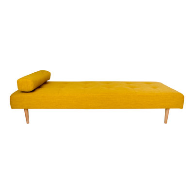 Capri Daybed - Daybed in curry with natural wood legs