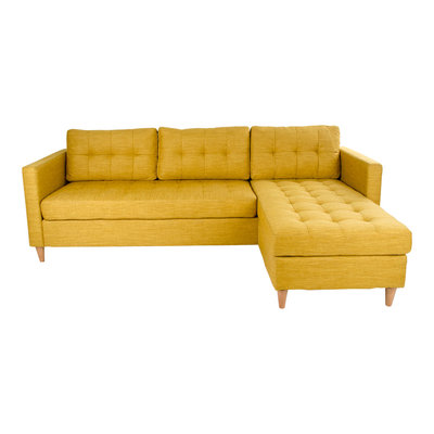 Marino Lounge Sofa - Sofa in curry 219x151 / 83xH80 cm