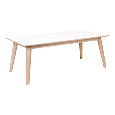 Copenhagen Coffee Table - Koffie tafel in wit en naturel
