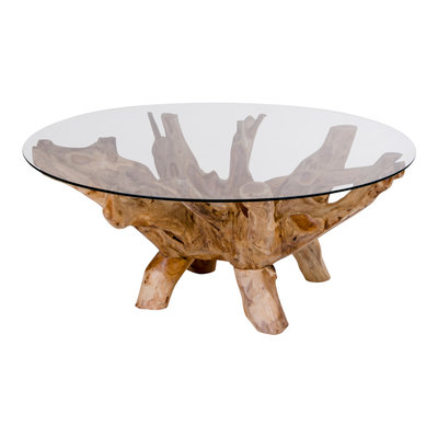 Amazonas Coffee Table - Ronde salontafel met glas