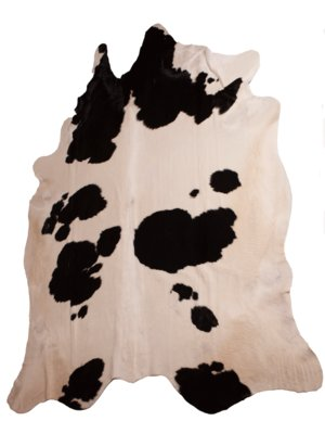 Koeienhuid Cow Skin Black-White